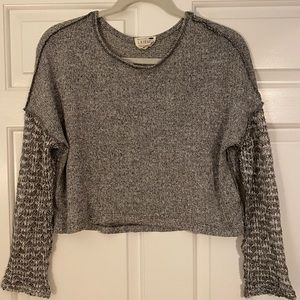 Grey Cropped Sweater - PacSun